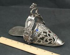 Antique Spanish Colonial Ladies Silver Side Saddle Repouse Horse Stirrup Slipper