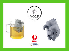 Hippo tea infuser cute silicone strainer loose leaf coffee novelty gift infuse