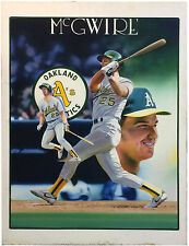 Terrence Fogarty signed Mark McGwire Canvas painting auto framed COA 1/1