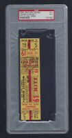 VINTAGE 1954 ORIOLES @ NEW YORK YANKEES FULL TICKET - MICKEY MANTLE PSA 7 - 8/24