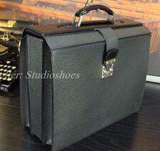 """LOUIS VUITTON 16"""" Architect Lawyer Pilot Gray Leather Dr. Briefcase Attache Bag"""