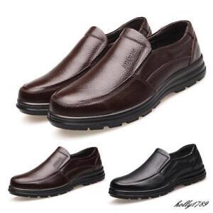 Men's Business Casual Shoes Restaurant Cook Slip on loafer Work dress Shoes