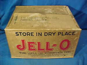 Orig 1930s JELLO Country Store ADVERTISING Shipping BOX