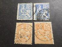 FRANCE LOT timbres CLASSIQUES MOUCHON CACHETS RONDS, oblitérés, OLD STAMPS