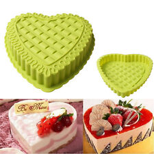 Non-Stick Love Heart Shape Cake Pan Tin Mold Baking Cheese Bread Jelly DIY Tray