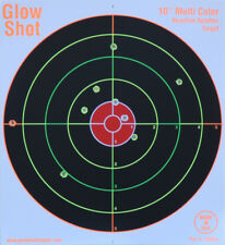 "GlowShot 10"" Heavy Card Reactive Splatter Shooting Targets 50pk, Multi Colour"