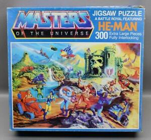 "HUGE MASTERS OF THE UNIVERSE 300 PIECE JIGSAW PUZZLE #4789 • 33"" x 22.5"" MOTU"