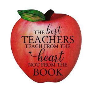 Inspirational Quotes Apple Shape Wall Art Decor Gift Idea for Teachers