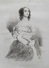 Lithographie XIXème - Adèle Foucher - Louis Boullanger - Célestin Nanteuil