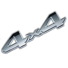 CHROME 4X4 EMBLEM/BADGE FOR TRUCK/SUV/PICKUP REAR TAILGATE TAIL GATE DOOR 4WD A
