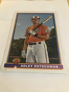 "2021 Bowman Adley Rutschman ""1991 RETRO"" 5x7 JUMBO PROSPECT #91B-AR SP #'d 42/49"