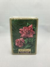 Nouvelle Playing Cards Plastic Coated Red Roses Sealed Vintage