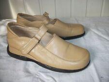 Chaussures mocassins laniere scratch cuir beige SAN MARINA 39 Talon compensé