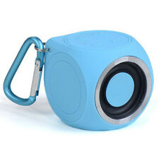 Mini Waterproof Bluetooth Audio Cube Speaker Hand-free Call Profile / Blue