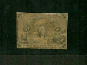 """5 CENT """"FRACTIONAL CURRENCY"""" 1800'S (WASHINGTON) 5 CENT """"FRACTIONAL  ROUGH!!!"""