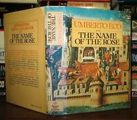 Eco, Umberto THE NAME OF THE ROSE  1st Edition Early Printing