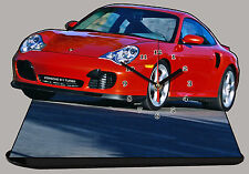 MODEL CARS, PORSCHE 911 TURBO-01, car passenger,11,8x 7,8 inches  with Clock