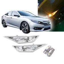 JDM Style Clear Lens Amber LED Side Marker Light for 16-19 Honda Civic 10th Gen
