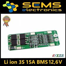 BMS 3S 15A Li-Ion LiPo Battery 18650 Charger Protection Board 12.6V no balance