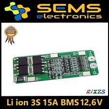 BMS 3s 15a Li-ion lipo Battery 18650 Charger Protection Board 12.6v no balance