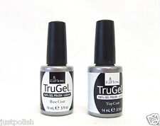 EzFlow Nail Gel Polish TRUGEL LED/UV Base Coat + Top Coat ~ 2 bottles~