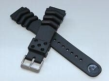 SEIKO Z-22 Rubber Diver Strap + 2 Fat Spring Bars Waterproof 22mm Bracelet Band