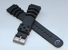 SEIKO Z-22 Rubber Diver Strap + 2 Fat Spring Bars Waterproof 22mm Bracelet Band
