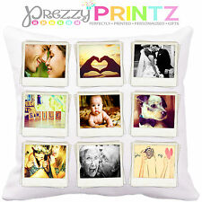 PERSONALISED PHOTO COLLAGE CUSHION ADD YOUR OWN PHOTOS INSTAGRAM FACEBOOK GIFT