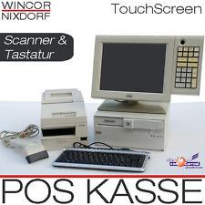 Wincor Pos Cassa TFT Touchscreen Monitor Casse BONDRUCKER bar scanner TASTIERA