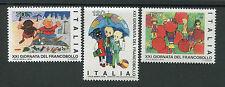 ITALIE 1979, timbres 1411/1413, JOURNEE DU TIMBRE, DESSINS D ENFANTS, neufs