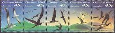 CHRISTMAS IS 1993 SEABIRDS of CHRISTMAS ISLAND Strip of 5 MNH