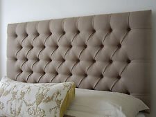 NEW BED HEAD KING SIZE DIAMOND PLEATED UPHOLSTERED BEDHEAD / HEADBOARD