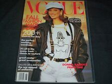 1992 AUGUST VOGUE MAGAZINE - CHRISTY TURLINGTON - FASHION SUPER MODELS - F 828
