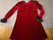 MY MICHELLE SPECIAL OCCASION DRESS SIZE 5 CHRISTMAS HOLIDAY SANTA FAUX FUR RED