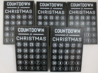LOT of 5 Primitives By Kathy Countdown To Christmas Black Chalkboard Decoration