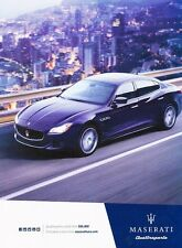 2016 Maserati Quattroporte S 2-page Original Advertisement Print Art Car Ad J547