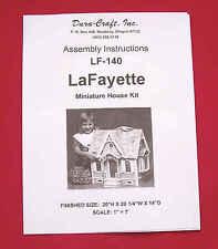 Dura-Craft  *LAFAYETTE* LF-140 Dollhouse Instructions