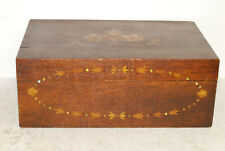 Antique American inlaid box, very alligatored,sewing box, veneered, early 19th C