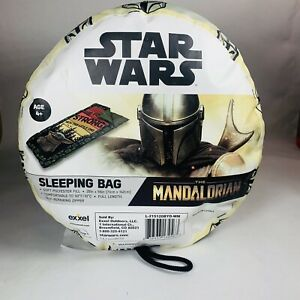 "Star Wars The Mandalorian Baby Yoda Kids Sleeping Bag 28"" x 56"" NEW"