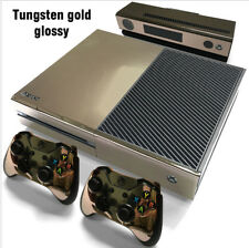 XBox One Console and Controller Skins / Decals -- Tungsten Gold Glossy Film TGG