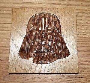 Star Wars Wooden Coaster Darth Vader Birthday Gift Geek Chic