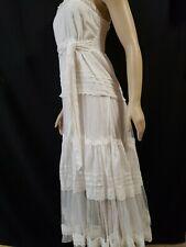 SNIDEL Ivory/White Spaghetti Straps Lace details Women's Dress Size 1