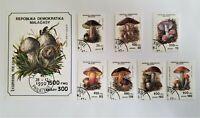 Mushrooms 1990 Malagasy Madagascar 7 stamps + Souvenir Sheet Scott #1001J