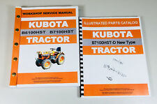 Kubota B7100hst D New Type Tractor Service Repair Manual Parts Catalog Shop Set