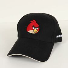 Angry Birds Black Adjustable Strapback Baseball Cap Hat New