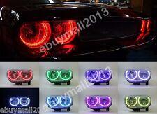 RGB Rings For Dodge Challenger 2008-2014 LED SMD Devil Demon Angel Eyes DRL kit