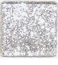 50 Tiles - 3/8 inch SILVER Glitter Glass Mosaic Tiles