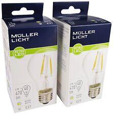 Doppelpack Müller-Licht 4W Retro-LED Birne E27 40W Licht 2700K Filament 400146