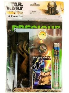 BABY YODA STAR WARS 11-Pc. Value Pack Back-to-School Stationery Supplies Set $20