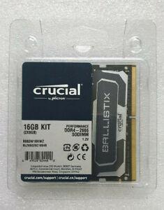 16GB RAM Crucial BL8G26C16S4B Ballistix Sport 2x 8GB KIT DDR4-2666 SODIMM Memory